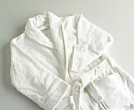 Albornoz Infantil blanco VELOUR 100% algodón 420 gr./m2
